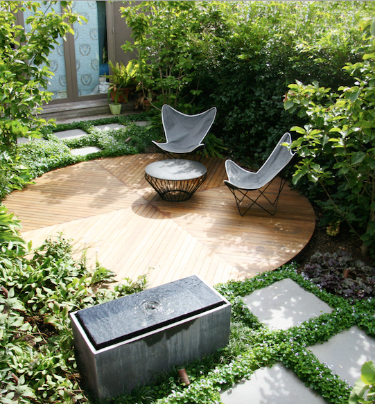"Landscape designer Ben Scott transformed a 10m x 5m [north-facing side garden](https://www.homestolove.com.au/compact-landscape-designs-21251|target=""_blank"") into a calm, contemplative space."