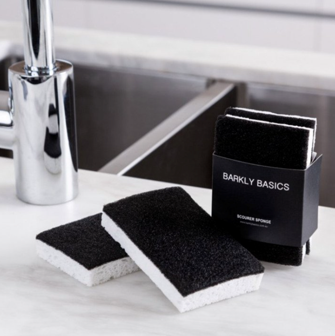 "Barkly Basics Black and White Scourer Sponge - Pack of 2, $6, [Design Stuff](https://www.designstuff.com.au/barkly-basics-black-and-white-scourer-sponge-pack-of-2|target=""_blank""