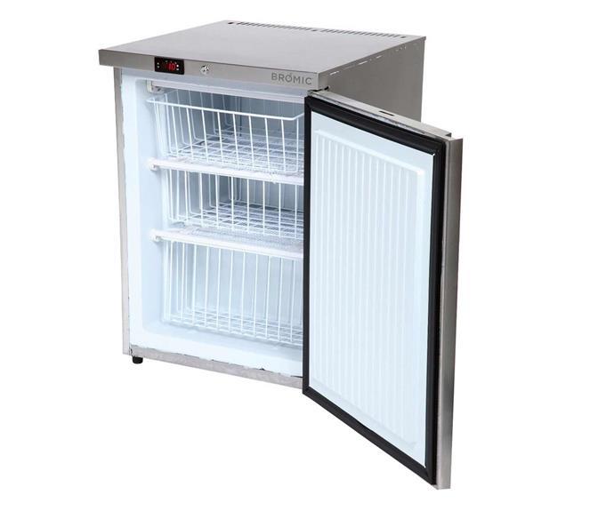 "Bromic UBFO140SD 115L Bar Freezer, $1144, [Appliances Online](https://www.appliancesonline.com.au/product/bromic-ubfo140sd-115l-bar-freezer|target=""_blank""|rel=""nofollow"")."