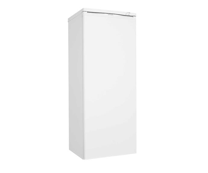 "Westinghouse - WFM1810WC - 180L vertical freezer, $829, [Bing Lee](https://www.binglee.com.au/westinghouse-wfm1810wc-180l-vertical-freezer|target=""_blank""|rel=""nofollow"")."
