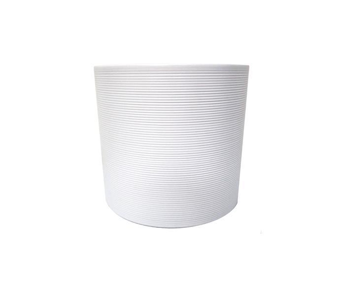 "Scheurich 19 x 17cm white panna glazed round indoor pot, $21.30, [Bunnings](https://www.bunnings.com.au/scheurich-19-x-17cm-white-panna-glazed-round-indoor-pot_p2832357|target=""_blank""|rel=""nofollow"")"