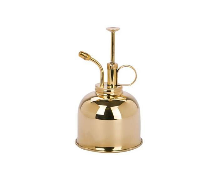 "Haws brass mist sprayer 300ml, $49, [Peters of Kensington](https://www.petersofkensington.com.au/Public/Haws-Brass-Mist-Sprayer-300ml.aspx|target=""_blank""|rel=""nofollow"")"