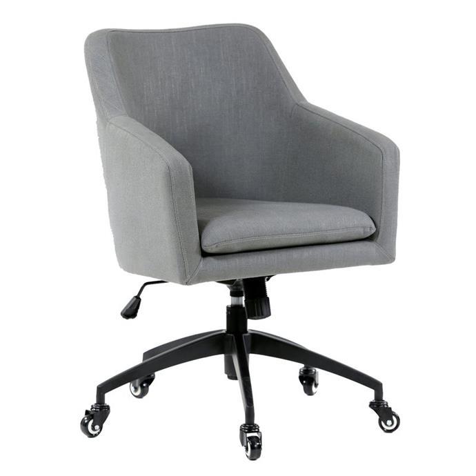"[Black Mango Davis Wolf Grey Upholstered desk chair, $389](https://www.bunnings.com.au/black-mango-davis-90cm-wolf-grey-upholstered-desk-chair_p0161526|target=""_blank""|rel=""nofollow"")"