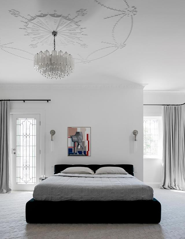"The elegant architectural details throughout this [1920s Spanish Mission-style home](https://www.homestolove.com.au/renovated-spanish-mission-home-21178|target=""_blank""), including the celestial moulded ceilings, and the epicurean delights of that very era informed its sophisticated renovation."