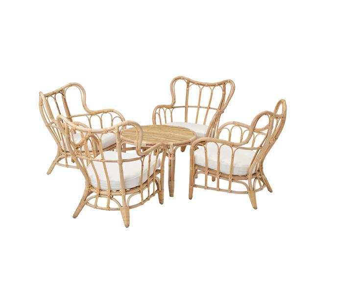 "MASTHOLMEN 4-seat conversation set, $765, [IKEA](https://www.ikea.com/au/en/p/mastholmen-4-seat-conversation-set-outdoor-rattan-s39216688/|target=""_blank""|rel=""nofollow"")"