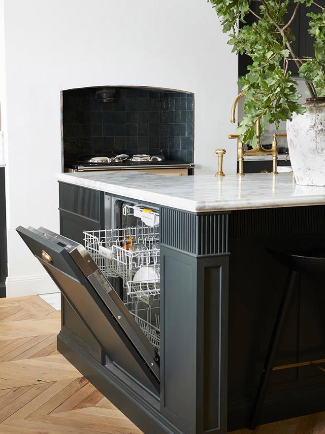 Miele integrated dishwasher.