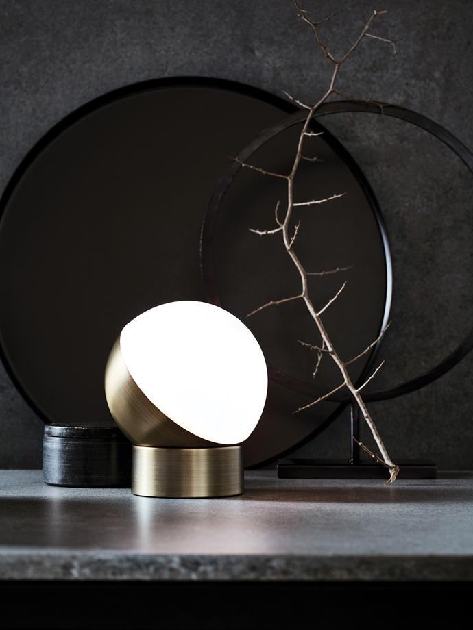 "Mikoh 1 Light Touch Table Lamp in Antique Brass, $89.95, [Beacon Lighting](https://www.beaconlighting.com.au/mikoh-1-light-touch-table-lamp-in-antique-brass|target=""_blank""|rel=""nofollow"")"