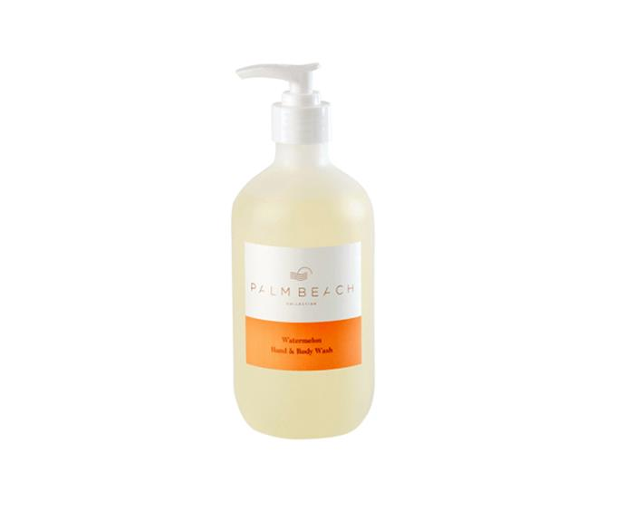"Watermelon Hand & Body Wash, $24.95, [Palm Beach Collection](https://palmbeachcollection.com.au/product/watermelon-hand-body-wash-2/|target=""_blank""