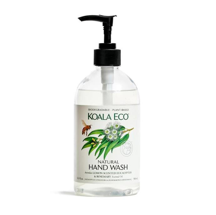 "Natural Hand Wash, $16.95, [Koala Eco](https://koala.eco/collections/all-products/products/all-natural-lemon-scented-eucalyptus-rosemary-hand-wash-100-pure-australian-lemon-scented-eucalyptus-and-rosemary-essential-oil?variant=15299310190655|target=""_blank""