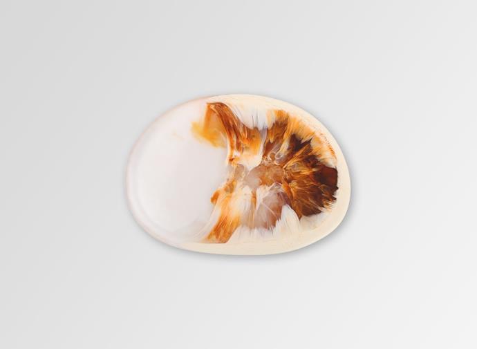 "Resin Temple Side Plate in Light Horn, $65.00, [Dinosaur Designs](https://www.dinosaurdesigns.com.au/products/resin-temple-side-plate-light-horn target=""_blank"" rel=""nofollow"")"