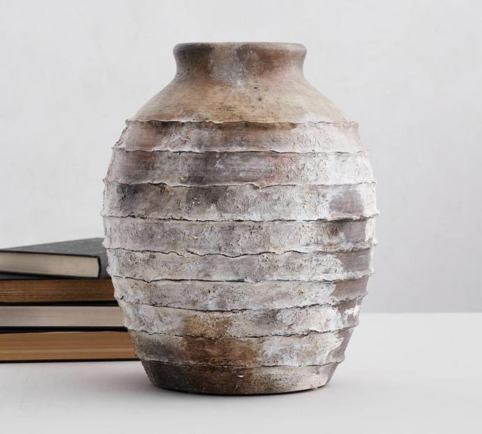 "Artisan Vase, $179, [Pottery Barn](https://www.potterybarn.com.au/artisan-ceramic-vase?quantity=1&attribute_1=Ribbed target=""_blank"" rel=""nofollow"")"