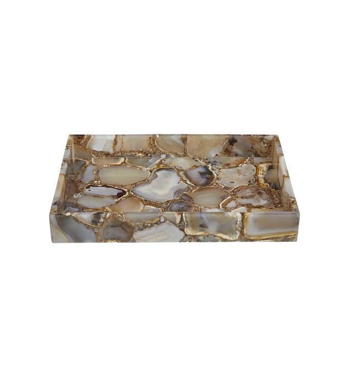 "Wild Agate Tray, $360, [Fenton & Fenton](https://www.fentonandfenton.com.au/products/tray-wild-agate target=""_blank"" rel=""nofollow"")"