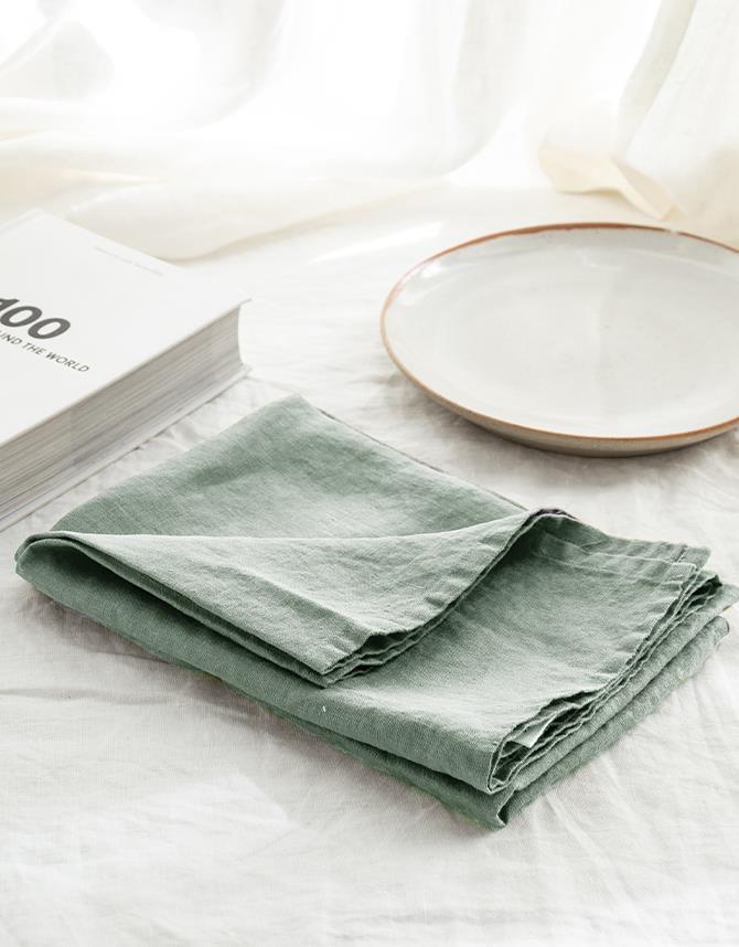 "Set of french linen Tea Towel in Sage, $29.95, [I Love Linen](https://www.ilovelinen.com.au/set-of-french-linen-tea-towel-2-in-soft-grey~39001?gclid=CjwKCAjwg6b0BRBMEiwANd1_SDgQaXGSY1-Jo0j-4JroVH3cisu0YcixGfoUfcGxNMo5K23LTf-mChoC-d8QAvD_BwE|target=""_blank""|rel=""nofollow"")"