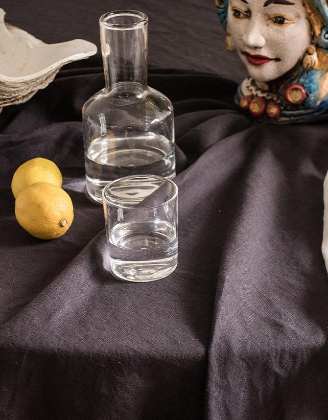 "French Linen table cloth in Inky Charcoal, $135, [I Love Linen](https://www.ilovelinen.com.au/french-linen-table-cloth-in-inky-charcoal|target=""_blank""