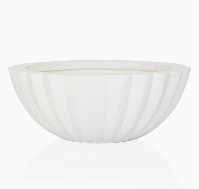 "Allia Low Concrete Planter in white, $225, [Coco Republic](https://www.cocorepublic.com.au/allia-low-conrete-planter-10583|target=""_blank""