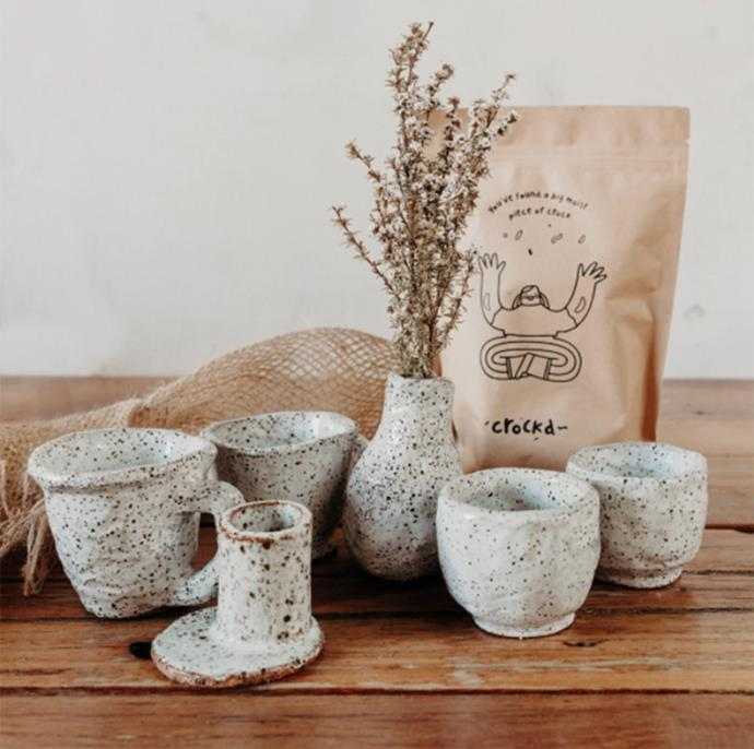 "D.I.Y pottery kit, from $80, [Crockd](https://crockd.com.au/collections/crockd-kits|target=""_blank""