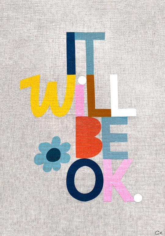 "'It Will Be Ok' tea towel, $89, [Castle](https://www.castleandthings.com.au/collections/teatowels/products/it-will-be-ok-1|target=""_blank"")"