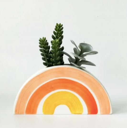 "Skyla Rainbow Planter, $40, [Hello Bella Lifestyle](https://www.hellobella.com.au/products/skyla-rainbow-planter|target=""_blank""|rel=""nofollow"")"