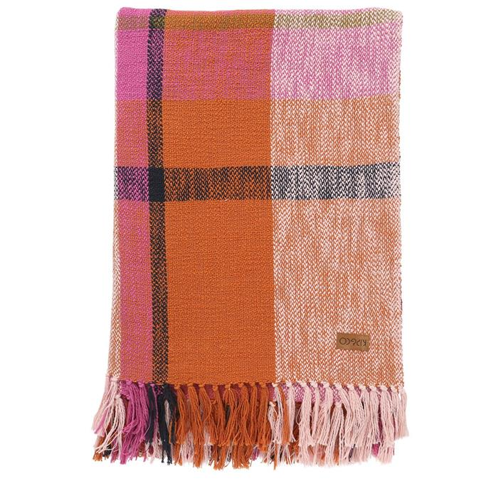 "'Marmalade Toast' Tartan throw, $269, [Kip&Co](https://kipandco.com.au/collections/shop-all/products/marmalade-toast-tartan-throw|target=""_blank""