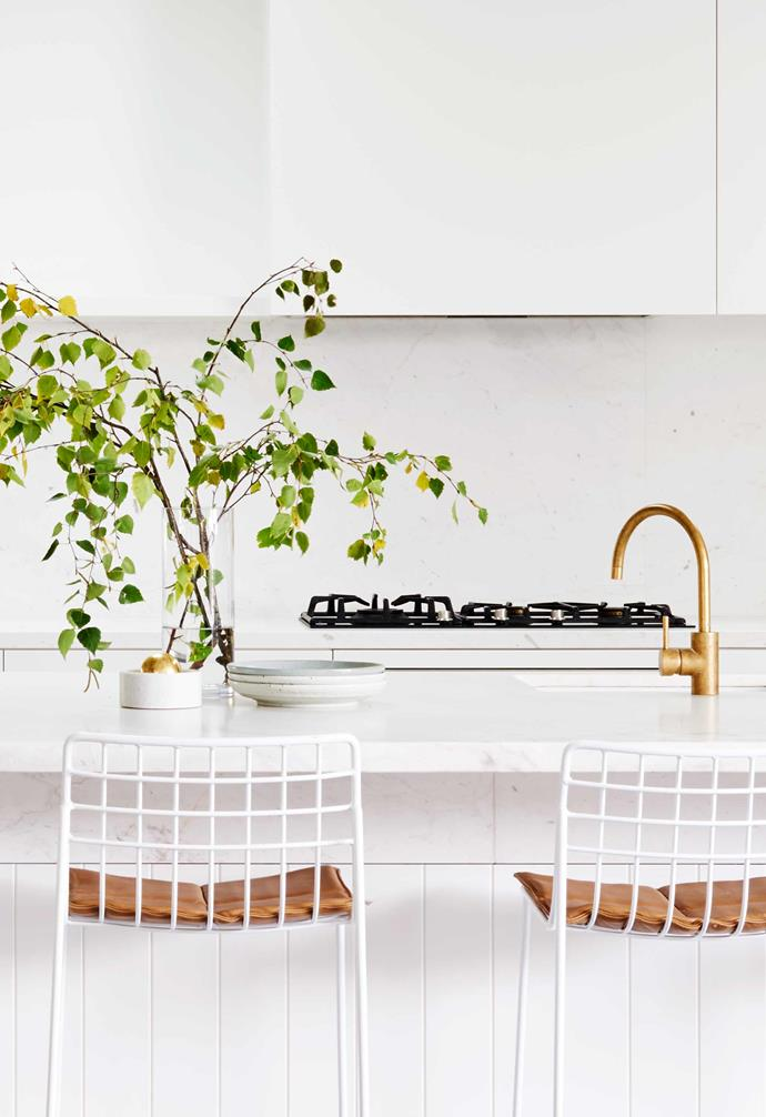 For the family of six in this Geelong home, the versatile galley design doubles as seating.
