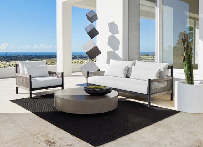 "Bahamas Indoor/Outdoor Rug in Charcoal, $2,395, [Coco Republic](https://www.cocorepublic.com.au/bahamas-indoor-outdoor-rug-45|target=""_blank""