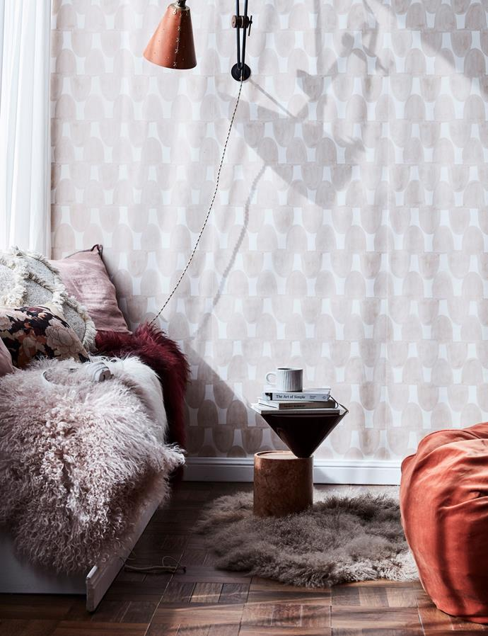 **Embrace luxe textures** <br><br>  This year, it's all about tapping into natural tones and textures when it comes to accessorising your space. Think sherpa rugs, shaggy throws and faux fur cushions to liven up your space and create a cosy place to snuggle up in as the weather cools down. *Photo: Maree Homer / bauersyndication.com.au*