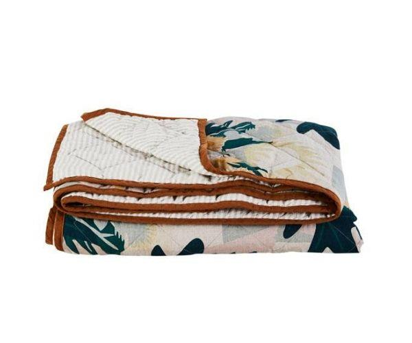"Returning Home art quilt, $399, [Greenhouse Interiors](https://greenhouseinteriors.com.au/collections/bedding/products/returning-home-art-quilt|target=""_blank""|rel=""nofollow"")"