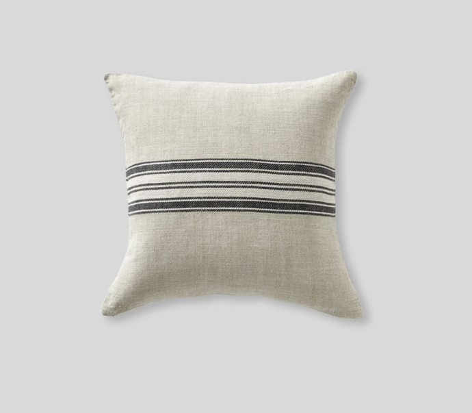 "Heavy linen cushion cover with stripes in natural, $65.00, [In Bed](https://inbedstore.com/products/heavy-linen-cushion-cover-with-stripes-in-natural?variant=31149687898192&utm_medium=cpc&utm_source=google&utm_campaign=Google%20Shopping&gclid=CjwKCAjw7e_0BRB7EiwAlH-goP8nJpEzSyVZQMQK7RCHN5w0UIBiOyTk8B4BXdK5_8WBgUq7DhyosRoCnI8QAvD_BwE|target=""_blank""