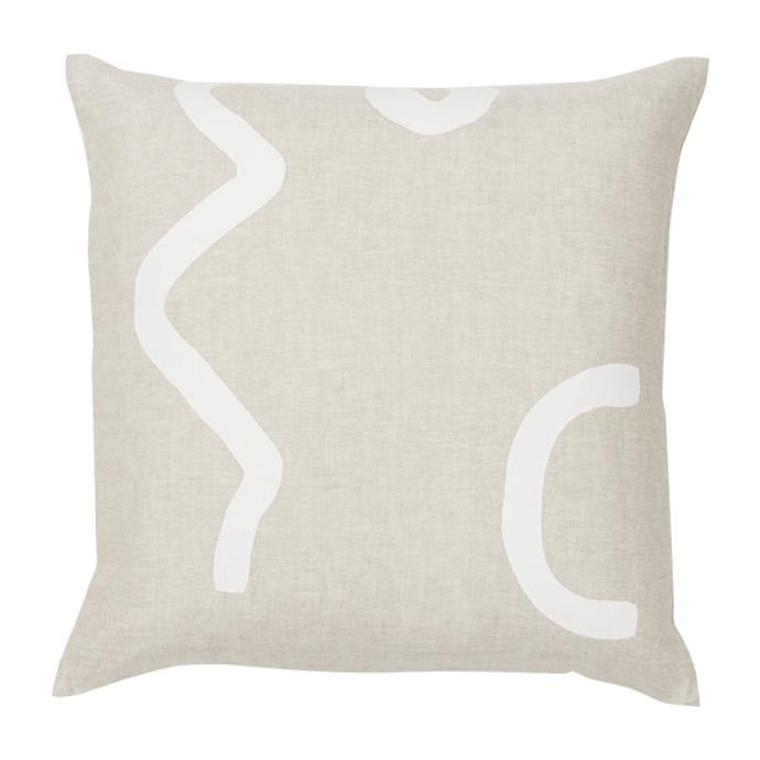 "Sunday 2 Cushion by Middle of Nowhere, $70.00, [Life Interiors](https://www.lifeinteriors.com.au/middle-of-nowhere-sunday-2-cushion|target=""_blank""