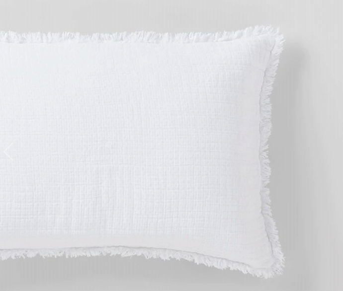 "Sandy Bay Cushion, $79.95, [Sheridan](https://www.sheridan.com.au/sandy-bay-cushion-s1m4-b160-c261-001-white.html|target=""_blank""