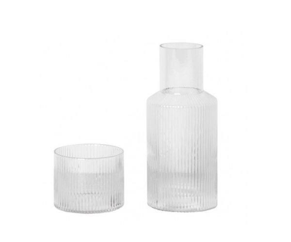 "ferm LIVING ripple carafe set, $79, [Designstuff](https://www.designstuff.com.au/ferm-living-ripple-carafe-set/|target=""_blank""|rel=""nofollow"")"