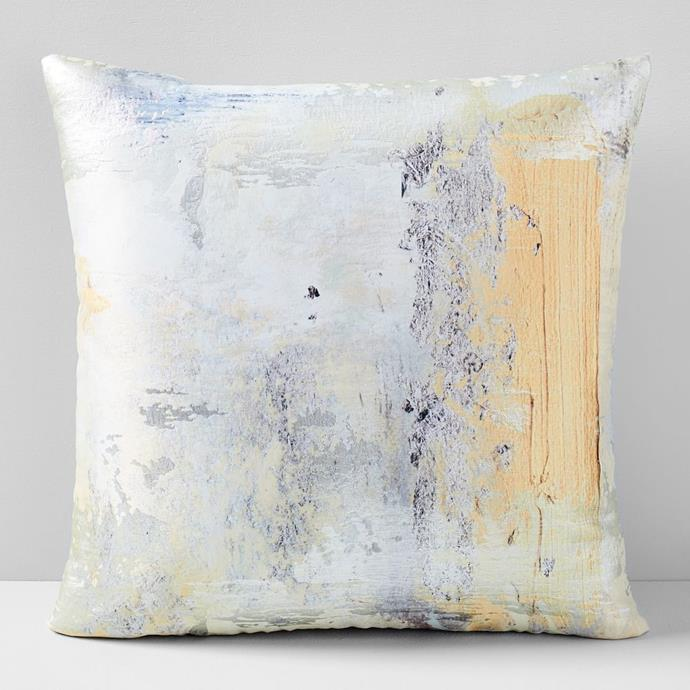 "Gold Swipe Brocade Cushion Cover, $59.00, [West Elm](https://www.westelm.com.au/gold-swipe-brocade-pillow-cover-b2839|target=""_blank""