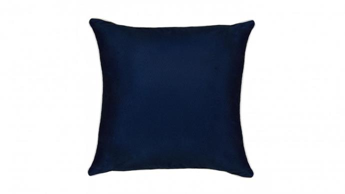 "Outdoor Cushion in Navy, $39, [Domayne](https://www.domayne.com.au/outdoor-cushion-navy.html|target=""_blank""