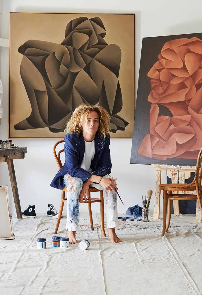Portrait of Hunter in his studio.