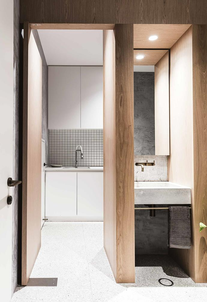 """The layout of the bathroom and laundry space in this [Federation home in Queens Park](https://www.homestolove.com.au/federation-cottage-queens-park-18311