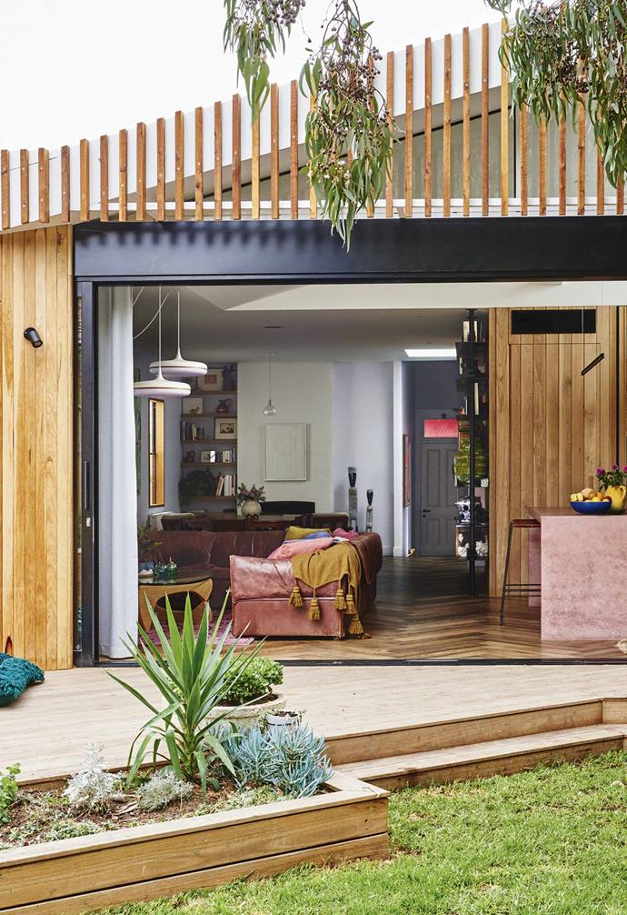 """The small, dark cottage that had previously been at the mercy of Melbourne's extreme weather had been transformed into a snug, light-filled home [awash with happy colours](https://www.homestolove.com.au/colourful-home-decor-21304