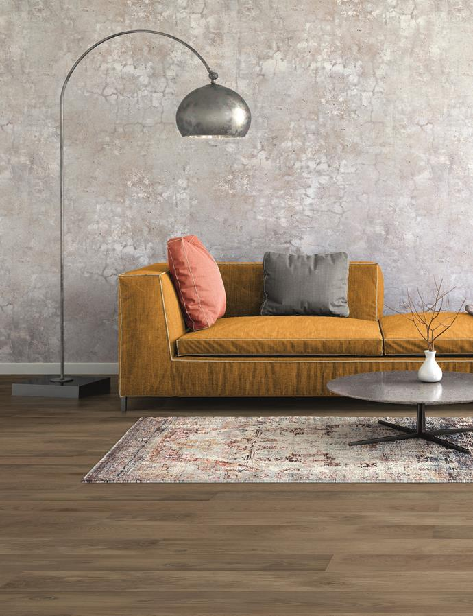 We love the natural ambiance this timber-look Luxury Vinyl Plank flooring adds to an otherwise contemporary space. *Photo: supplied*