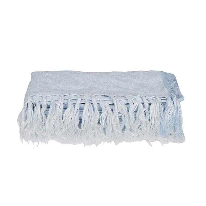"Evie Linen throw, $195, G[lobe West](https://www.globewest.com.au/browse/evie-linen-throws|target=""_blank""