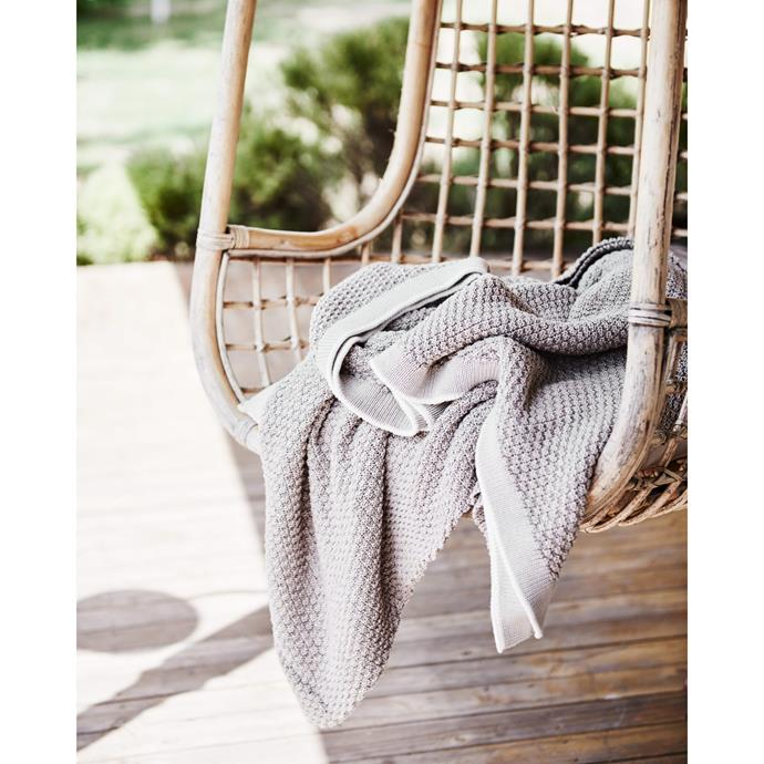 "Cotton-Latte throw, $150, [St Albans](https://stalbans.com.au/products/cotton-latte-throw?_pos=1&_sid=5444aeefa&_ss=r|target=""_blank""