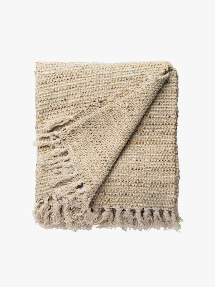 "Bentota throw, $185, [L&M Home](https://www.lmhome.com.au/collections/throws/products/bentota-throw|target=""_blank""