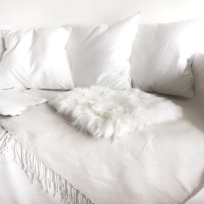 "Sheepskin Seat Pad - Ivory, $45, [Sourceress the Store](https://sourceressthestore.com.au/collections/sheepskins/products/sheepskin-seat-pad-ivory|target=""_blank""