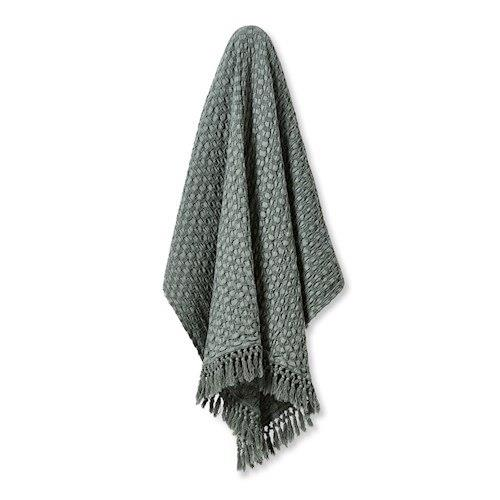 "Byron Smokey Green Throw, $89.99, [Adairs](https://www.adairs.com.au/homewares/throws/home-republic/byron-smokey-green-throw/|target=""_blank""