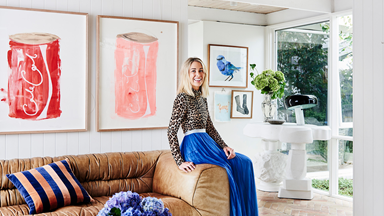 Artist Prudence Oliveri's bold and beautiful Jan Juc home