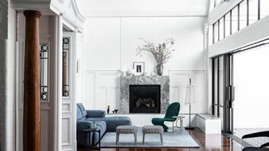 An old warehouse converted into a glamorous family home