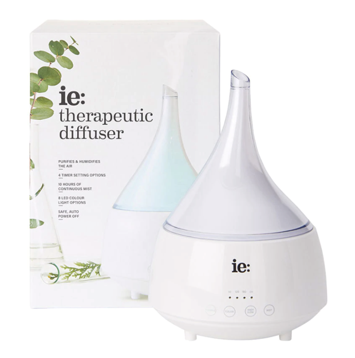 "We're all about essential oil diffusers right now. This ceramic design will fit in seamlessly with any interior, while releasing the therapeutic properties of your oil of your choice through a fine mist that will not only relax you but make your home smell amazing. Therapeutic Diffuser, $89.95, [In Essence](https://www.inessence.com.au/products/categories/vaporisers-diffusers/|target=""_blank""