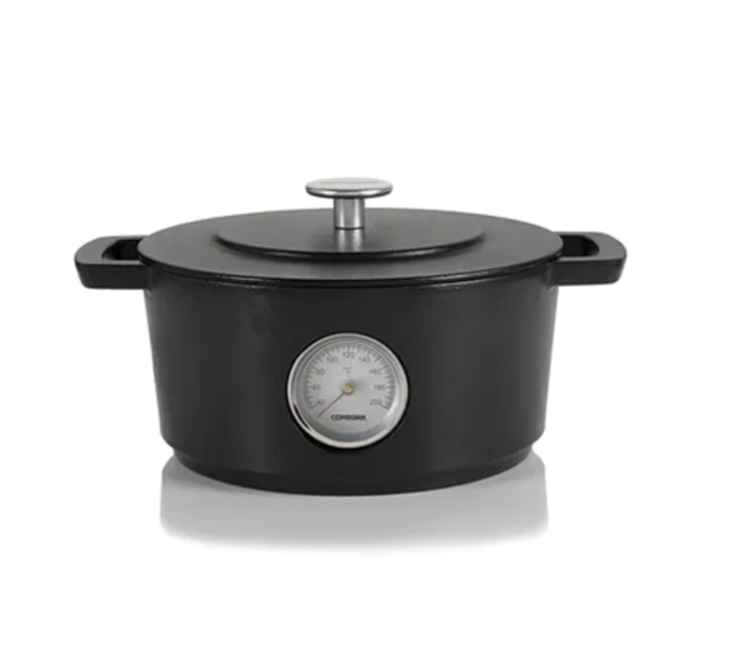 "This high-quality enamelled cast iron cookware is made from 100 per cent recycled iron.  Combekk Dutch Oven with Thermometer in Green (24cm), $329.95, [Chef's Hat](https://www.chefshat.com.au/product/12422-dutch-oven-green-24cm-w-therm-combekk|target=""_blank""