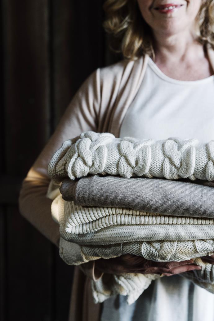 Knitwear from Smitten Merino's autumn 2020 range.