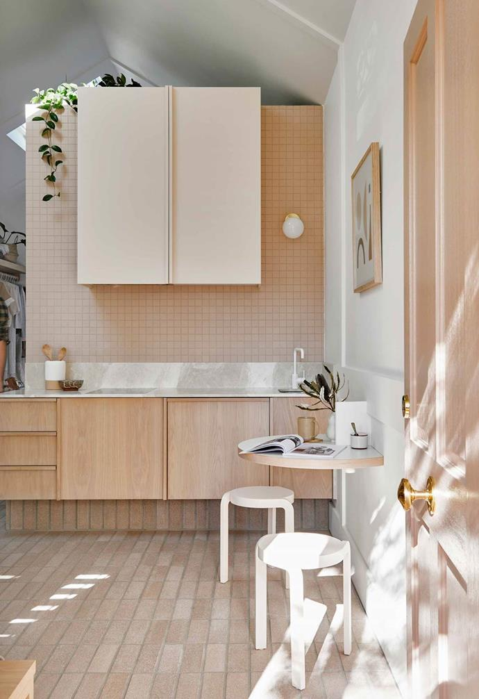 "Since appearing on The Block Josh and Jenna have recently won best residential design at the Interior Design Awards 2018 for their pretty-in-blush [Canning Cottage project](https://www.homestolove.com.au/josh-and-jenna-denstens-cottage-renovation-5974|target=""_blank""), which opted for a soft, round bulb wall-light in the kitchen to highlight a dark, recessed corner."