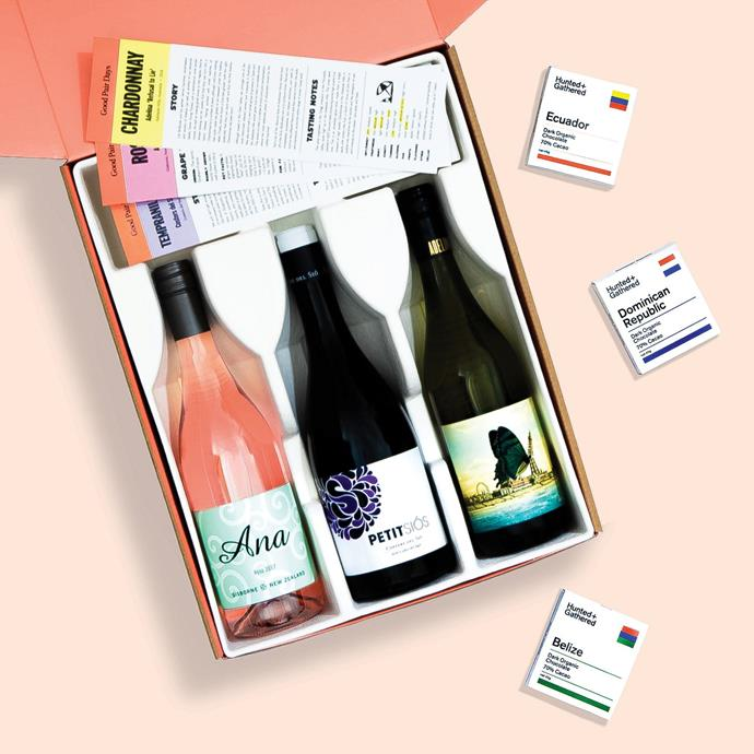 "Mother's Day Wine & Chocolate Gift Box, $90, [Good Pair Days](https://www.goodpairdays.com/special-packs|target=""_blank""
