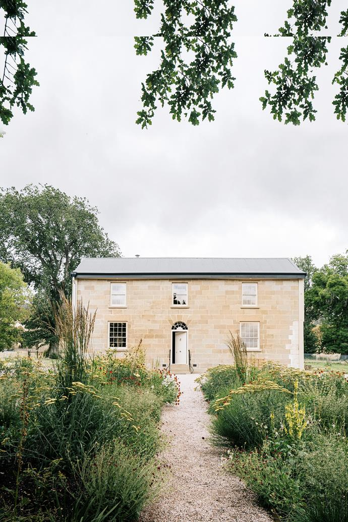 The new garden planting plan was designed by Hobart-based landscape designer Catherine Shields.